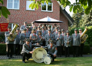 Gruppenfoto der Elmenhorster Blaskapelle